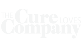 cure loves company reversed logo